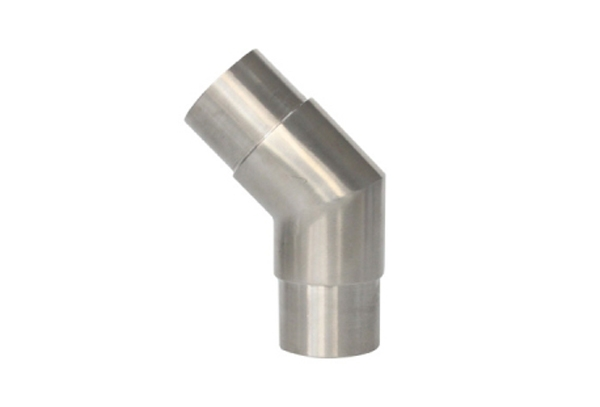 Stainless steel polished elbow 45D