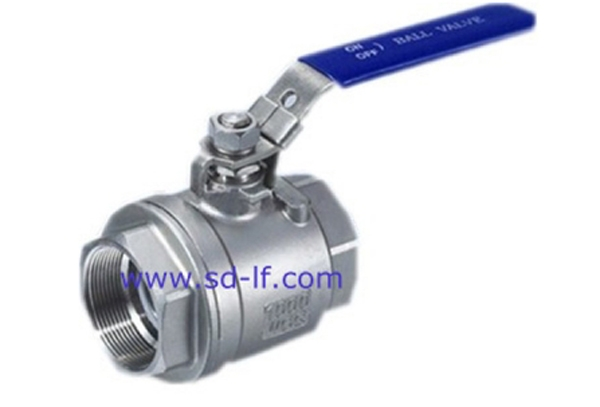 Stainless steel two-piece ball valve