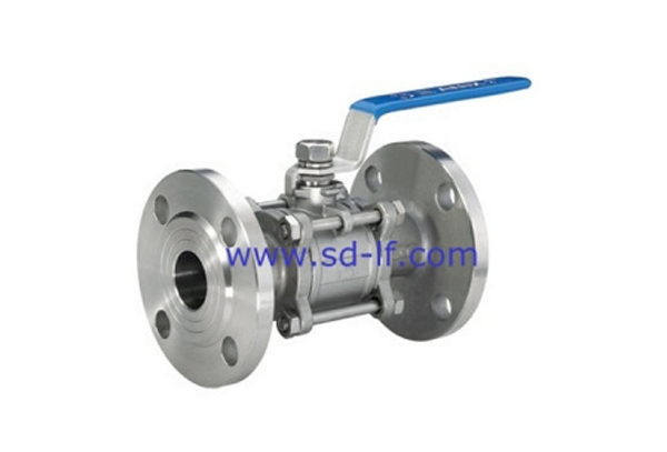 Stainless steel three-piece flange ball valve