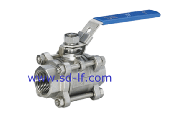 Stainless steel three-ball valve