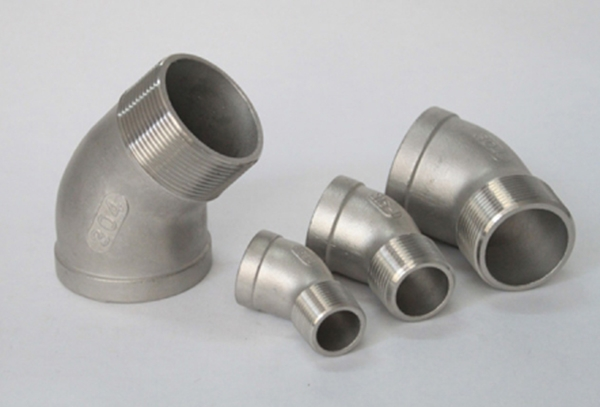 Stainless steel 45 ° inside and outside the tooth elbow